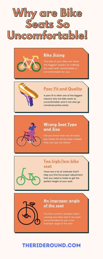 Why are Bike Seats So Uncomfortable infographic