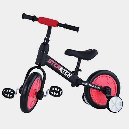KESAIH Zavofly Balance Bike With Training Wheels
