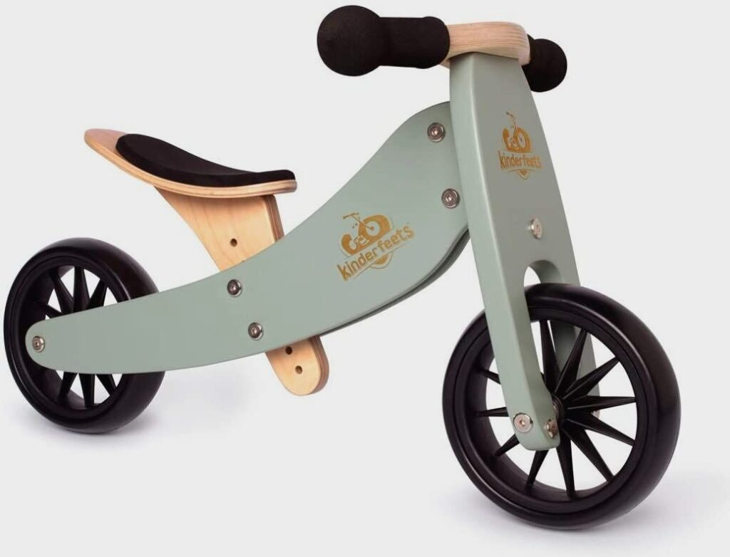 Kinderfeets TinyTot Plus 2-in-1 Wooden Balance Bike